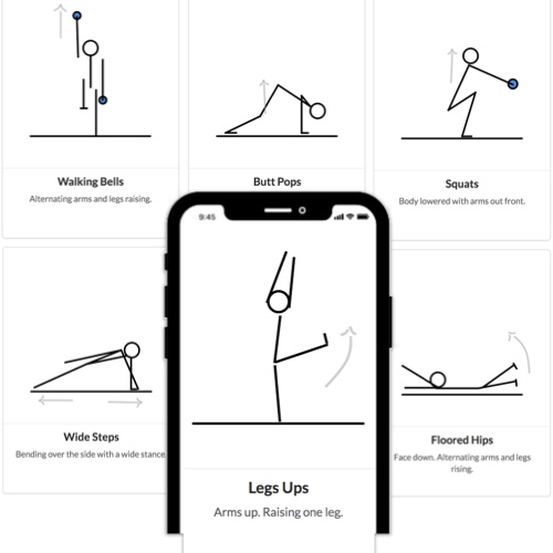 I turned my disco yoga high intensity interval training shuffle cards into a free app.
